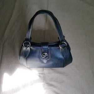 Arnaldo Bassini Italy teal leather shoulder bag